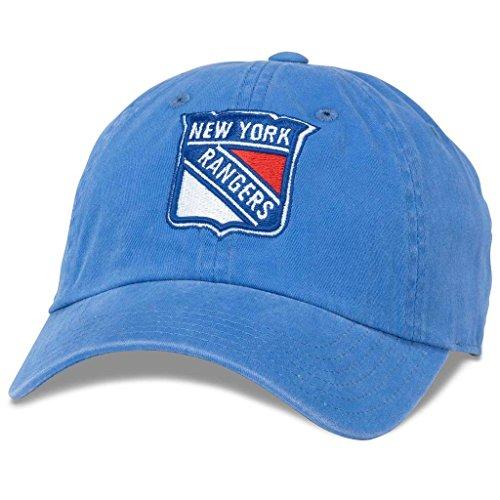 American NeedleNew Raglan NHL Team Adjustable Hat, New York Rangers, Faded Blue (36672A-NYR)