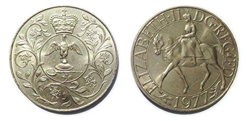 Münzen für Sammler - Queen Elizabeth II Commemorative Silver Jubilee Crown 1977
