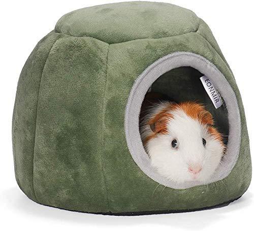 Animales Suave y cálida Casa cálida para Conejo Hámster Cerdo holandés cobaya-18x15x12cm