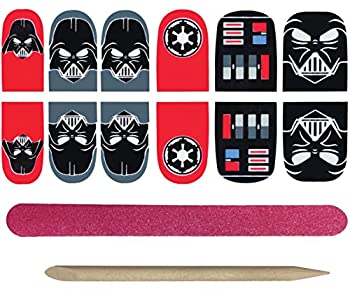 Star Wars Darth Vader Nail Stickers One Size