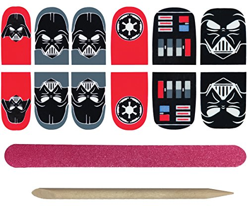Rubie's Star Wars Darth Vader Nail Stickers, One Size