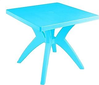 طاولة بلاستيك مربعة ديانا من الهلال والنجمة، 80 × 80 سم - تركواز