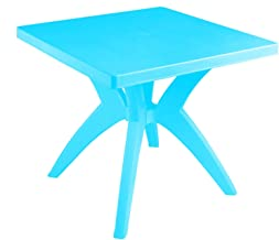 El Helal and Star Diana Plastic Square Table, 80 × 80 cm - Turquoise