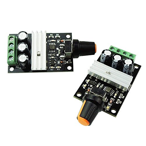 DollaTek 6V 12V 24V 28V 3A 80W Controlador de Velocidad de Motor DC (PWM) Interruptor de Velocidad Variable Ajustable Controlador de Motor de Corriente Continua 1203B