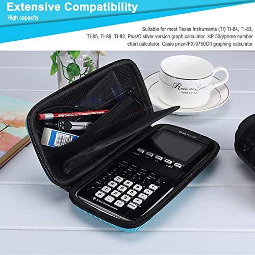 XBERSTAR Hard EVA Shockproof Carry Case Bag Pouch for Texas Instruments TI-84 Plus CE/Color TI-83 Plus,TI-89 Titanium, HP 50G Graphing, Scientific Financial Calculators (Blue) … Photo #3