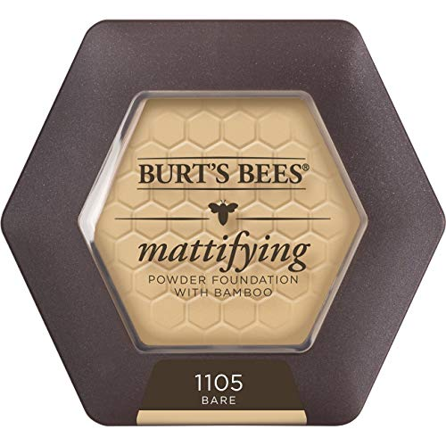 Burt's Bees 100% Natural Origin Mattifying Powder Foundation, Bare - 0.3 Ounce