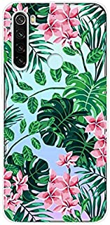 Aksuo for Xiaomi Redmi Note 8 Case,Women Girls boy Men Printed Transparent Clear Design Plastic Case with TPU Bumper Protective Cover,Spring Flower Bloom
