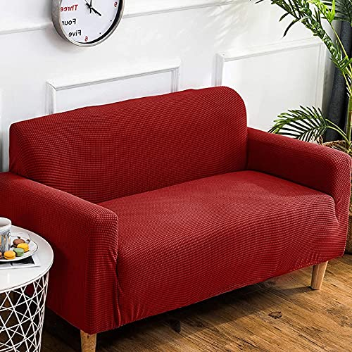LTHDD Funda de sofá elástica suave, antideslizante fácil de usar, protector de muebles de color puro grueso lavable para mascotas y niños
