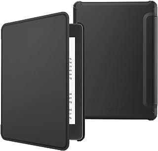 Fintie Kindle Paperwhite 2018 第10世代 専用保護ケース 軽量 薄型 マグネット機能 オートスリープ機能 PUレザー 保護カバー 開閉式カバー(ブラック)