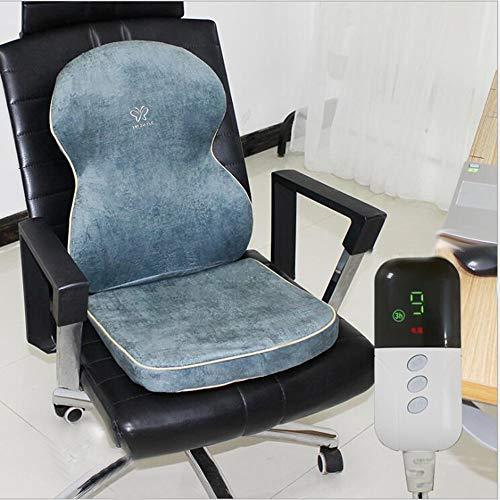 FUFU Mantas y mantitas Almohadilla térmica de silla, cojín de asiento con...