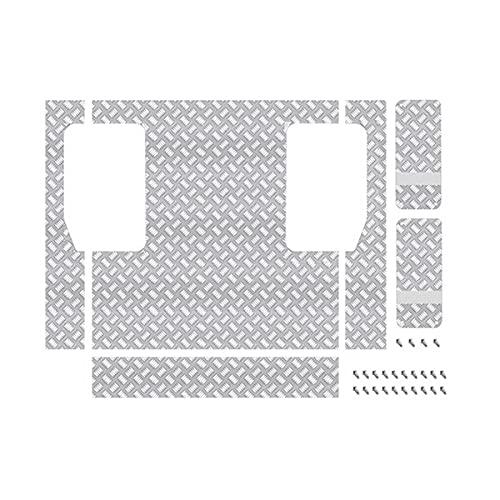 Timagebreze für WPL C24 C24-1 Metall Heck Koffer Dekor Platte Anti- Rutsch Unterfahr Schutz 1/16 RC Auto Upgrade Teile ZubehhR