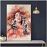 Empty Mariah Carey Póster E Impresiones De Arte De Pared Impresión En Lienzo Pintura para Arte De Sala De Estar Decoración De Dormitorio En Casa Regalo-24X32 Pulgadas X 1 Sin Marco