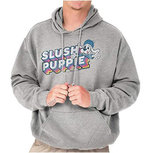 Adults Vintage Slush Puppie Hooded Sweatshirt, Athletic Gray, S to 5XL