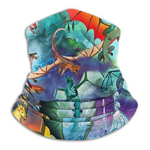 XCVD Wings of Fire Charakter Unisex Mikrofaser Halswärmer Sonnenschutz Winddichtes Stirnband Schal für den Außenbereich