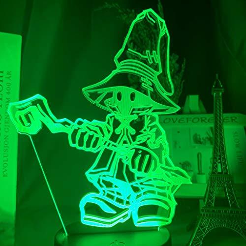 Final Fantasy Vivi Ornitier Figure Kids Night Light Led Color Changing Bedroom Decorative Light Cool Gift for Kids Bedside Lamp