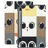 Funda para Galaxy Tab S7 Funda Delgada y Liviana con Soporte para Tableta Samsung Galaxy Tab S7 de 11 Pulgadas Sm-t870 Sm-t875 Sm-t878 2020 Release, Set Nine Faces Animal Babies representa