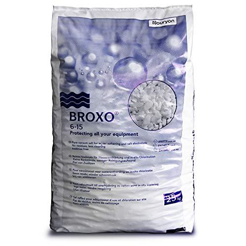 BROXO 25kg 6-15 Regeneriersalz Poolsalz Schwimmbadsalz PE-Sack