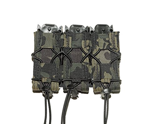 High Speed Gear Triple Pistol Taco Mag Pouch, Molle, Color Multicam Black