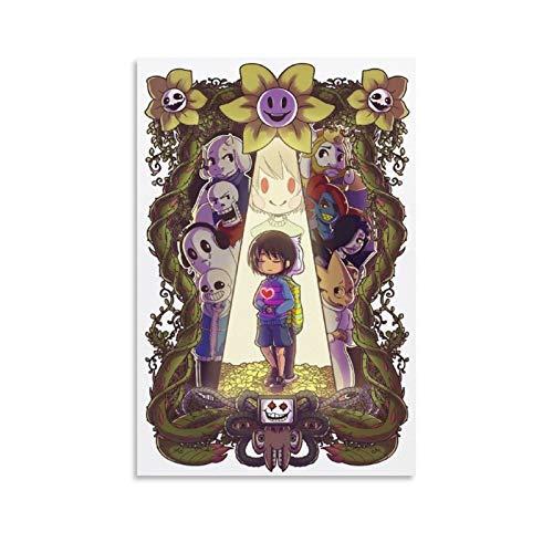 Undertale Trans Chara Skele Sans Children Games HD Print Picture Poster Artwork Print On Canvas 16x24inch(40x60cm)