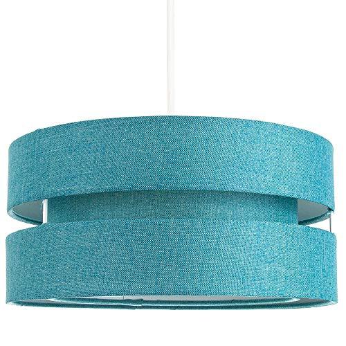 Hedendaagse kwaliteit groenblauw linnen stof Triple Tier plafond hanglamp schaduw