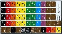 学習用英語色キーボードステッカー (小文字と大文字) デスクトップ、ノートパソコン、ノートブック用