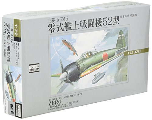 Micro Ace 1/72 War Machine Series Japan Navy Fighter Mitsubishi A6M5 Mitsubishi A6M Zero 52-inch Plastic Model No.6