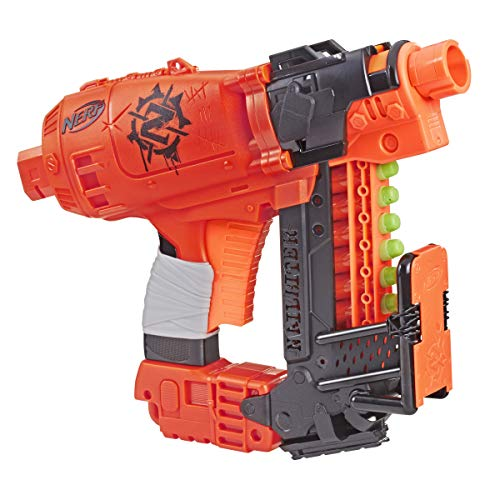 NERF Nailbiter Zombie Strike Toy Blaster – 8 Official Zombie Strike Elite Darts, 8-Dart Indexing Clip – Survival System – for Kids, Teens, Adults