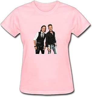 Duanfu Florida Georgia Line Women's Cotton Short Sleeve T-Shirt