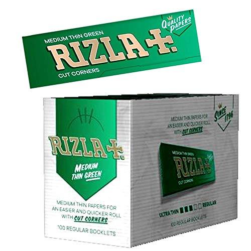 Green papier à cigarettes Rizla, 100pks/Boîte, papier Poids moyen