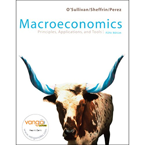 VangoNotes for Macroeconomics: Principles, Applications, and Tools, 5/e cover art