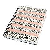 SIGEL JN600 Libreta espiral básico, 16.2 x 21.5 cm, punteado, tapa dura, 120 páginas, blanco/negro/rosa