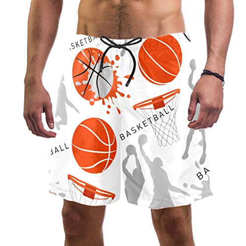 AITAI Pantalones cortos de playa para hombre de pelota de deporte de baloncesto de secado rápido para deportes de baño