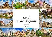 Lauf an der Pegnitz Impressionen (Wandkalender 2022 DIN A2 quer): Wunderschoene und einmalige Bilder der Stadt Lauf an der Pegnitz (Monatskalender, 14 Seiten )