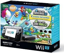 Nintendo Wii U Deluxe Set: Super Mario Bros U & Luigi U (32 GB) (Renewed)