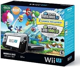 Nintendo Wii U Deluxe Set: Super Mario Bros U & Luigi U Bundle (Renewed)