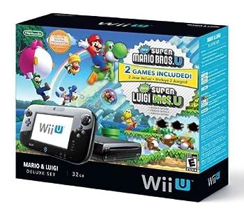 Nintendo Wii U Deluxe Set  Super Mario Bros U & Luigi U  32 GB   Renewed