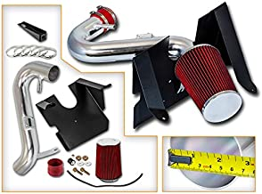 Rtunes Racing Cold Air Intake Kit + Filter Combo RED Compatible For 05-09 Compatible Ford Mustang 4.0L V6