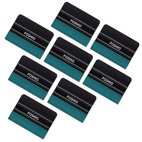 FOSHIO 8Pack Black 4Inch Automotive Felt Squeegee for Auto Vinyl Wrap Window Tint Tool Wallpaper Tool