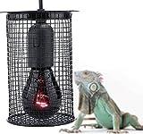 Zyyini Pantalla Anti-Calor para Reptiles, pequeña luz Redonda Diurna Luz Nocturna Jaula de Malla...
