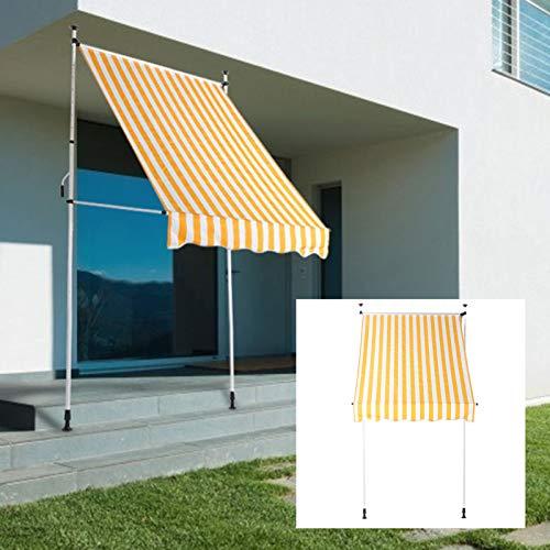 DD&Eren Canopy Retráctil Manual Al Aire Libre Impermeable con El Toldo del Toldo del Sol para La Puerta De La Ventana De La Casa del Jardín