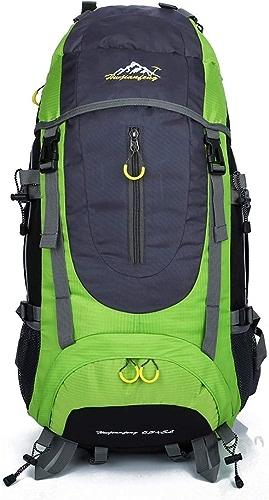 Sac à Dos De Randonnée, 65L Imperméable à L'extérieur De Voyage Sacs à Dos Légers, Grande Capacité Sac De Randonnée en Nylon, Sac pour L'alpinisme