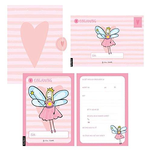 12 Einladungskarten Geburtstag Mädchen (Feen). Handgemachte Einladungskarten Kindergeburtstag incl. 12 liebevollen Hand designten Briefumschlägen. ... hochwertigen Karton Box. By Lisa Wirth