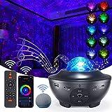 WiFi LED étoilé Ciel Projecteur Galaxy Light, Projecteur Starry Sky Compatible avec Alexa/Google Home, avec Télécommande Haut-parleur Bluetooth 4 Niveaux de Luminosité pour les fêtes d'enfants et Noël
