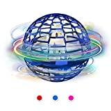 Hawiton Flynova Pro Flying Ball Toys, Flying Toys Spinner Hand Operated Drone for Kids - Flying Boomerang Spinner with Endless Tricks 360°Rotating & LED Lights Helicopter Stress Relief Toys for Boys