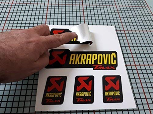 Aufkleber Aufkleber Kompatibel mit Akrapovic Yamaha Tmax Rohr Escape Aluminium Montagepaste +180 Grad