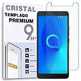 REY Protector de Pantalla para ALCATEL 3C, Cristal Vidrio Templado Premium
