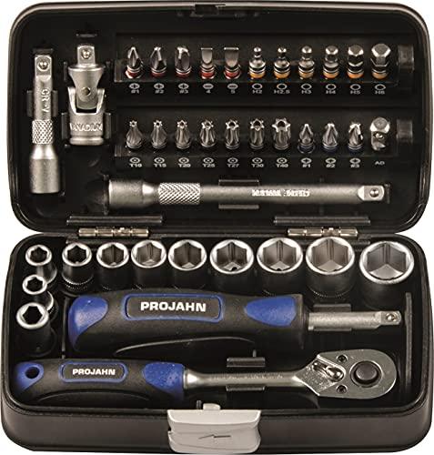 Projahn 394072 Mini Steckschlüssel und Bit-Box 1/4