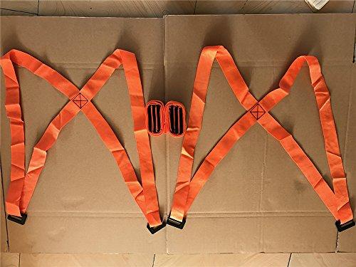 Lanxi® 2 Tragegurt Set Transportgurtel Hebegurt für Möbel, TV, Betten, Kleiderschrank, schwere, Sperrige, Artikel, Geräte, Matratzen 269.2 cm Dicker Modell