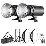 Neewer Flash Estereoscópico Softbox 800W Kit:(2)400W...