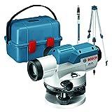 Bosch Professional Nivel Óptico GOL 26 D (aumento 26x, unidad de medida: 360grados, alcance: hasta 100m, regla graduada GR 500, trípode BT 160, en maletín de transporte)